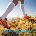 runner wearing compression socks